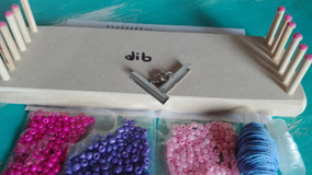 43a230b1e221 Kit Telar Dib Para Tejer Pulseras Con Materiales Incluidos