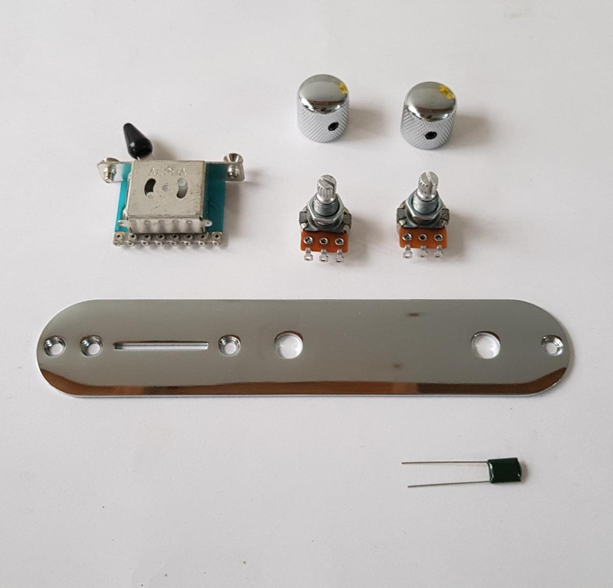 Circuito Alpha : Kit telecaster guitarra circuito alpha completo con perillas
