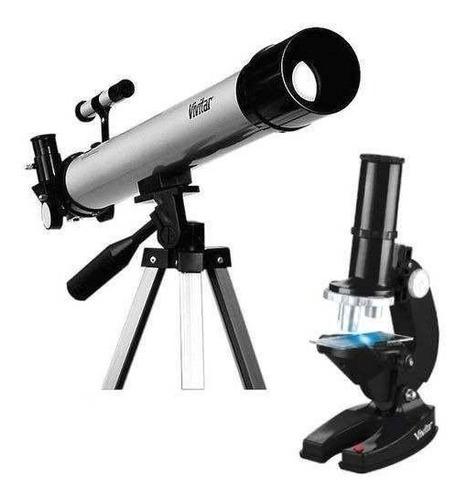 kit telescópio 120x + tripé  + microscópio 600x frete grátis