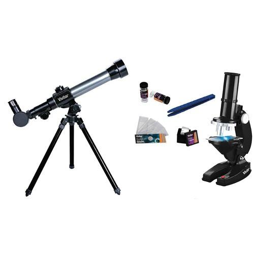 kit telescopio y microscopio vivitar vivitelmic20 tripode
