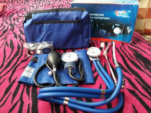 kit tensiometro con fonendo marca tenso con estuche de nylon