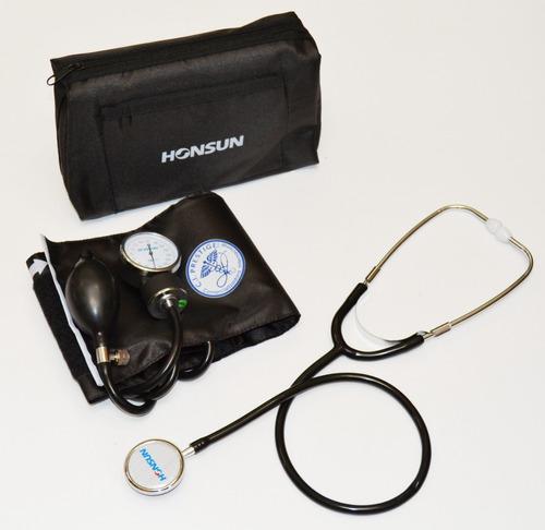 kit tensiómetro y fonendo sencillo marca honsun/prestige