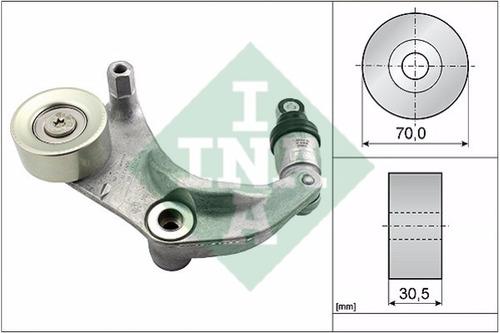 kit tensor ina + correia alternador gates honda civic 12/16
