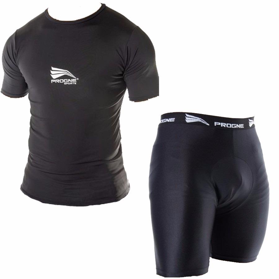 7a0156bb821b2 kit térmico progne bermuda + camisa manga curta corrida top. Carregando  zoom.