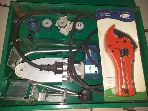 kit termofusora amanco p/por c/bocais 20,25 e 3mm 220v