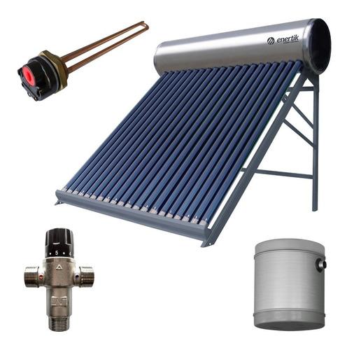 kit termotanque solar inoxidable 200 l + accesorios enertik