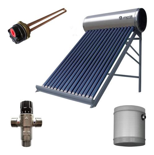 kit termotanque solar premium inoxidable 150 l + accesorios