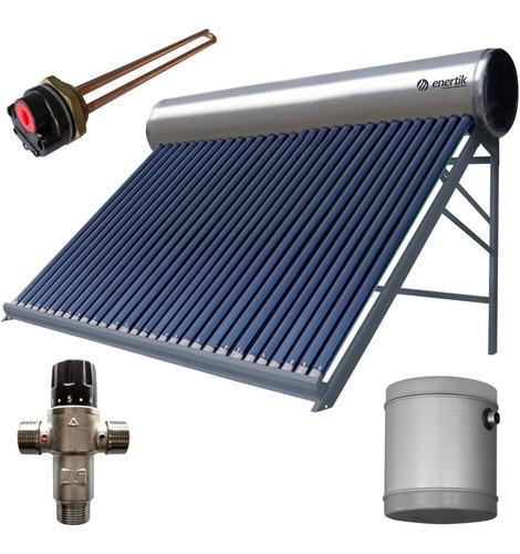 kit termotanque solar premium inoxidable 300 l + accesorios
