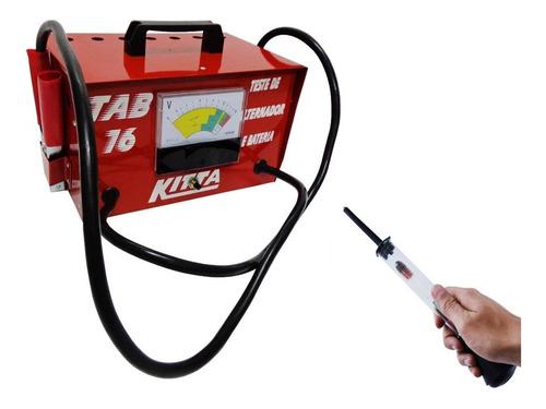 kit teste bateria automotiva tab16 kitta densímetro caminhão