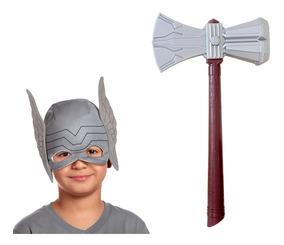 48ce2f1c99 Kit Thor Vingadores Ultimato - Mascara Elmo Tecido + Machado