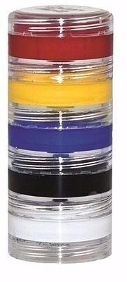 kit tinta cremosa 5 potes de 4g cores primárias - ref: 1082
