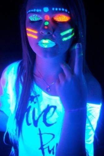 Kit Tinta Facial Corporal Fluorescente 5 Cores Color Make