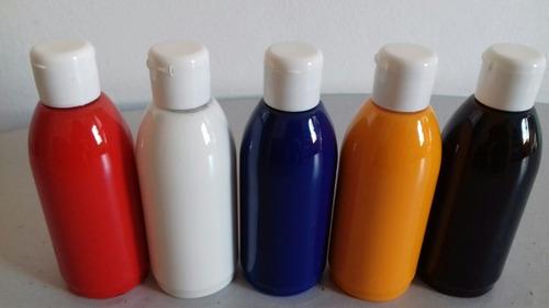 kit tinta para aerografia com 5 frascos de 100ml cada frasco