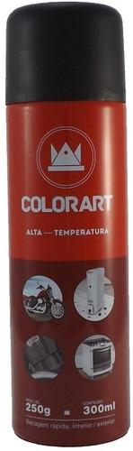 kit tinta spray alta temperatura cromado metalico colorart