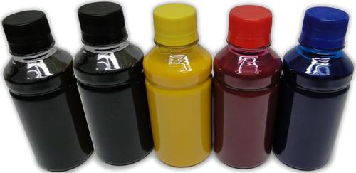 kit tinta sublimática para epson - 5 cores - 100ml cada cor
