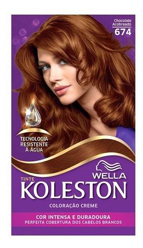 kit tintura koleston chocolate acobreado 674
