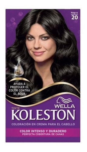 kit tintura koleston wella color 20 negro