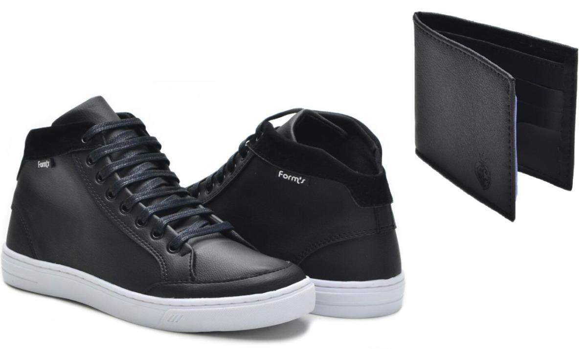 267f1baa54eb6 kit tênis cano alto estilo botinha skate + carteira form s!! Carregando zoom .