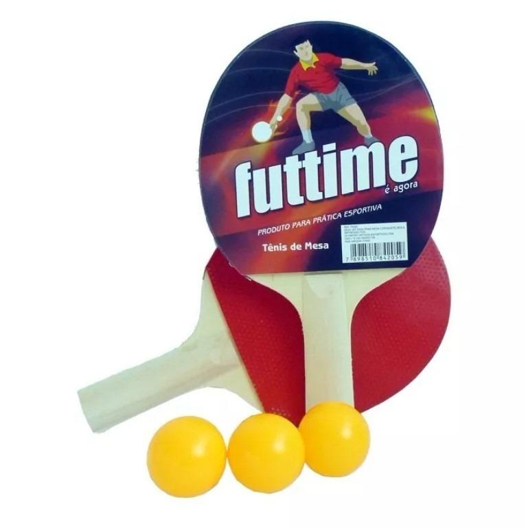 ee7e4f7ef9 Kit Tênis De Mesa Ping Pong 2 Raquetes 9 Bolinhas 1 Rede - R  71
