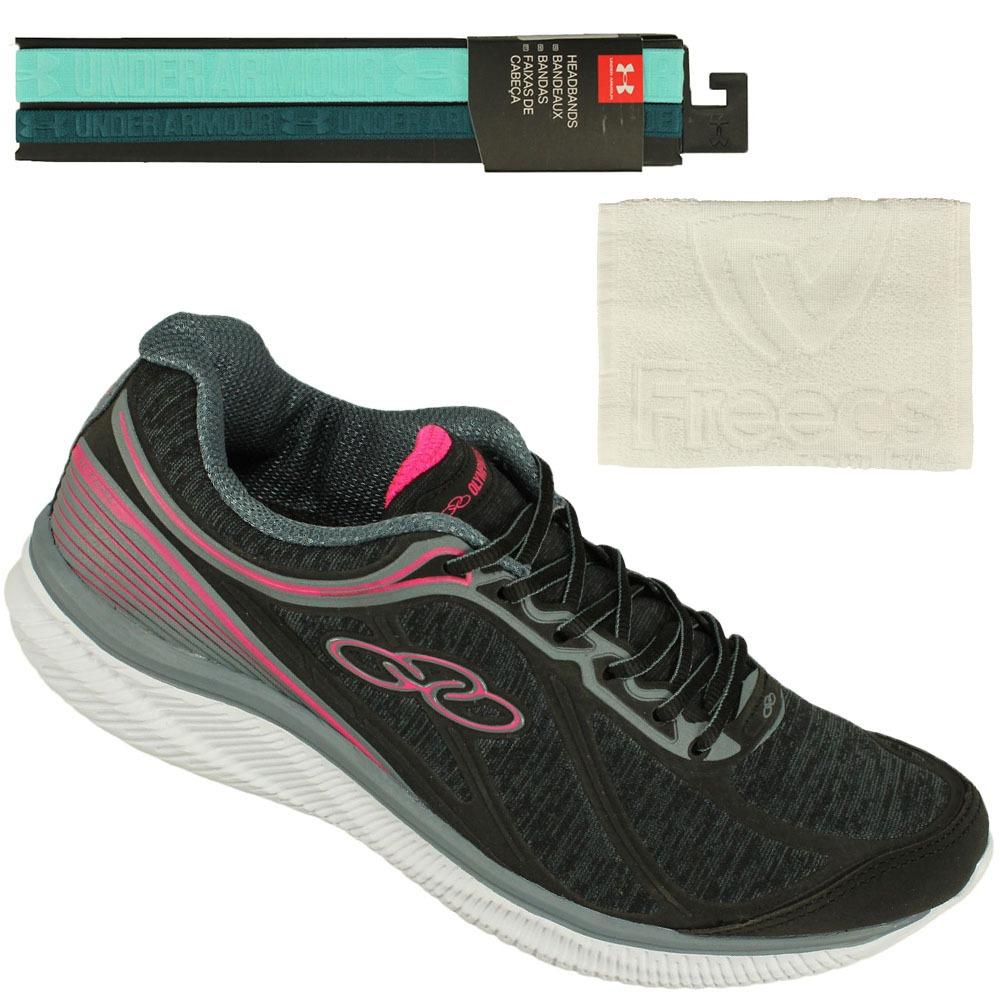 c5b7e79edb5 Kit Tênis Fitness Olympikus Actual +faixa Cabelo U.a+ Toalha - R ...