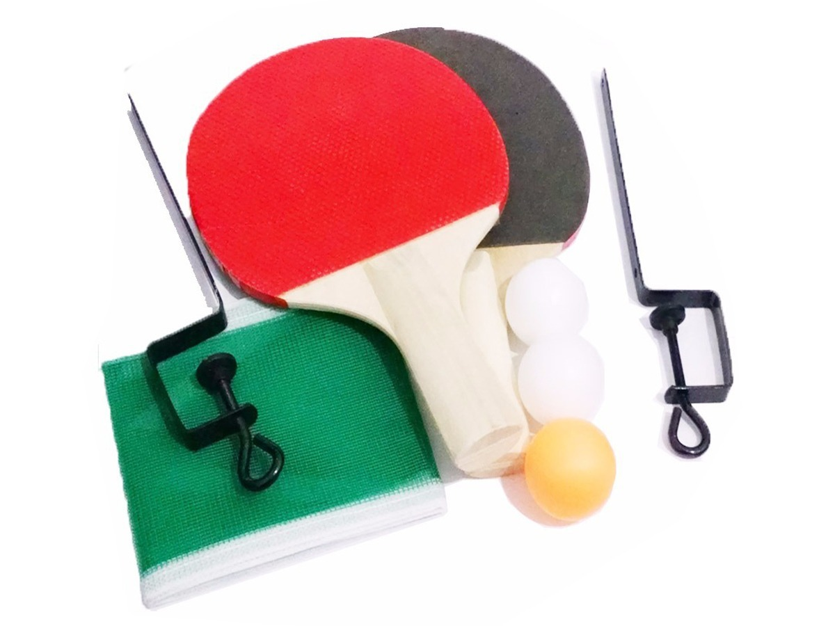 a14448d74 Kit Ping Pong 2 Raquetes 3 Bolas E 1 Rede De Tênis De Mesa - R  11 ...
