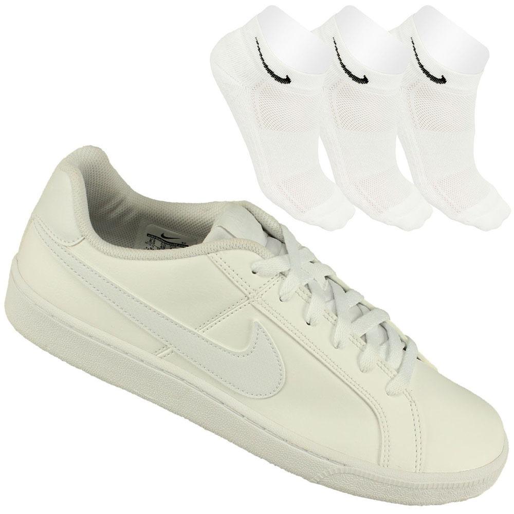 f2f218236 Kit Tênis Nike Court Royale + 3 Meias Lupo Original Promoção - R ...