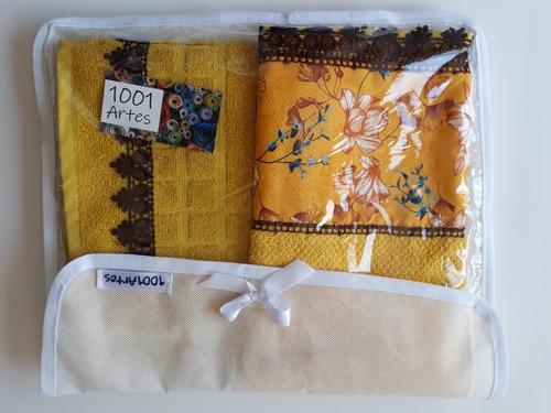 kit toalha amarela