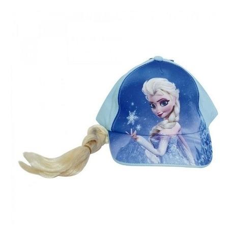 kit toalha de rosto e mão frozen 2 azul + boné com trança