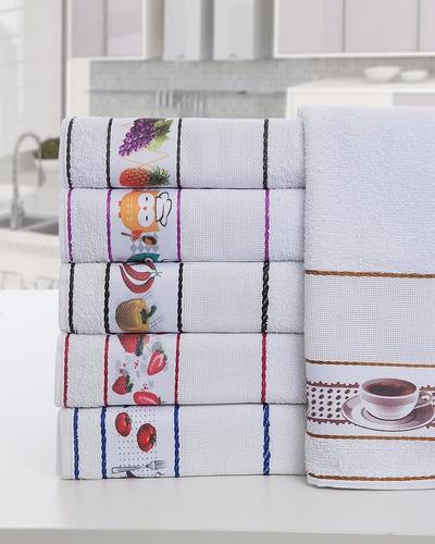 kit toalhas para cozinha - 12 panos de copa (prato) atacado