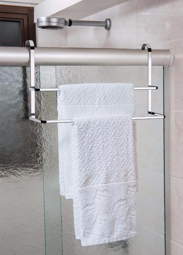 kit toalheiro duplo de box + suporte porta papel cx descarga