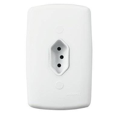 kit tomada ou interruptor dicompel monaco com 50 pçs