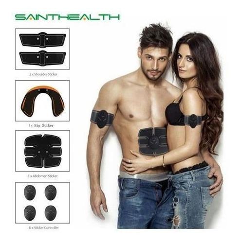 kit tonificação muscular estimulador abdomen braço bumbum