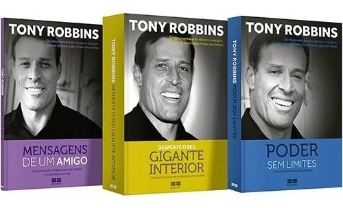 kit tony robbins 3 volumes - desenvolvimento pessoal
