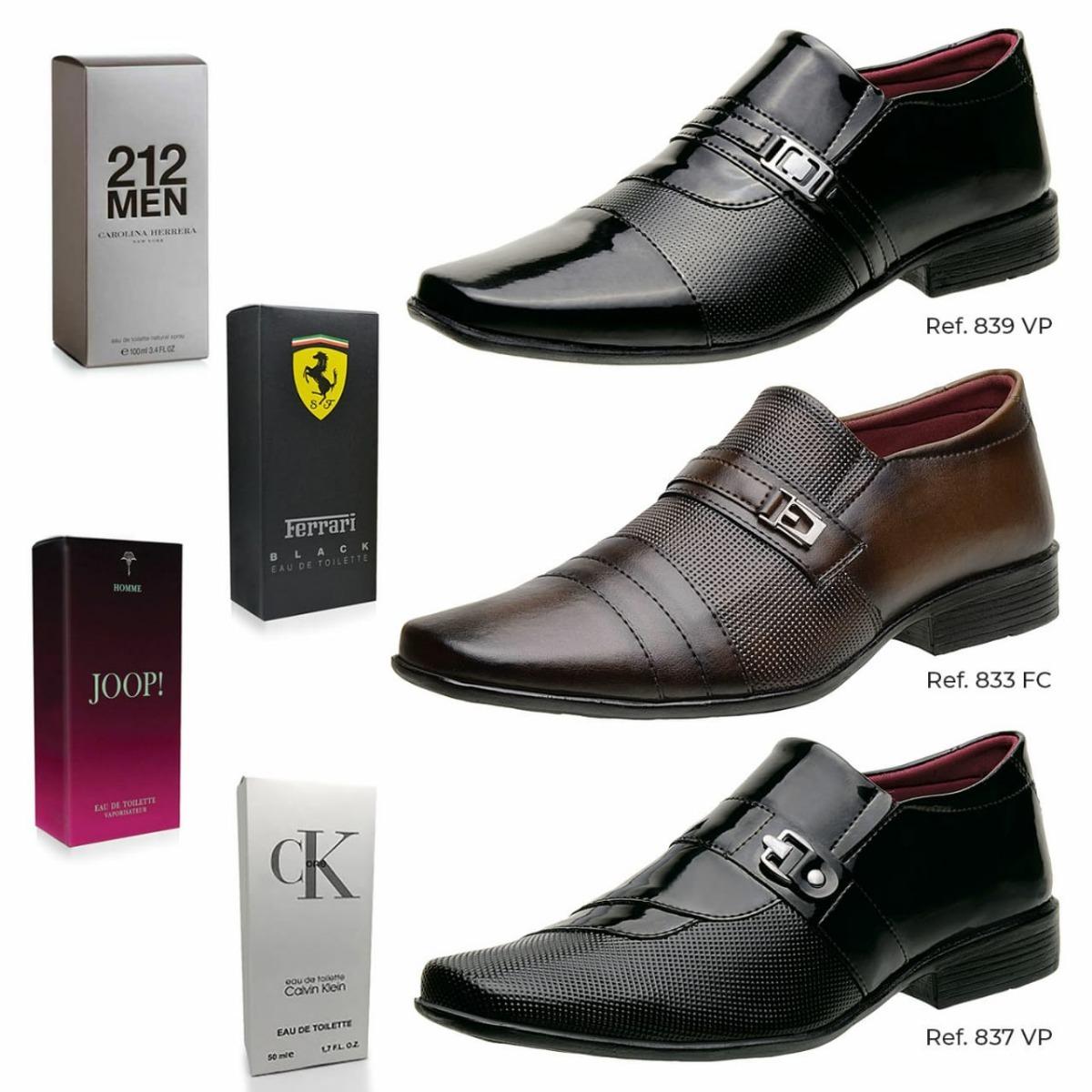 b7494ea87 kit top 3 pares sapatos social conforto masculino+ 1 brinde. Carregando  zoom.