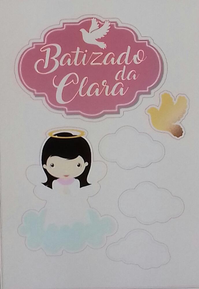 Kit Topo Toppers Tags Batizado Menina Frete Gratis Brasil R 27