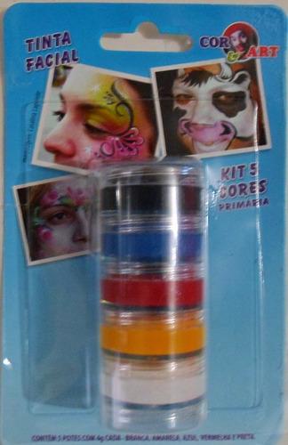 kit torre c/ 5 potes de 4g - cores primárias - ref: 1082