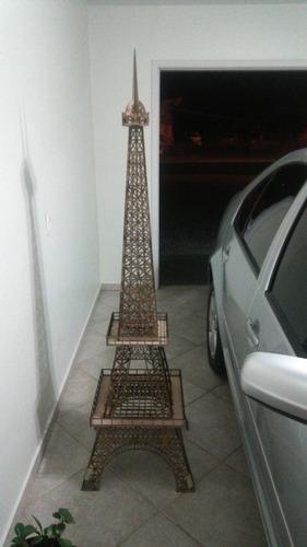 kit torre eiffel: 30, 64, 80, 1,80cm altura