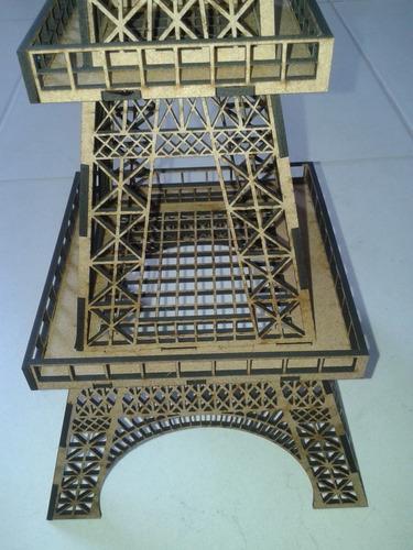 kit torre eiffel em mdf: 2x 1,25 metros + 10x 64cm altura