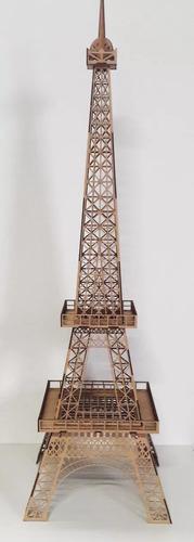 kit torre eiffel mdf 01 x 2,40mt 6mm + 02 x 65cm + 01 x 30cm