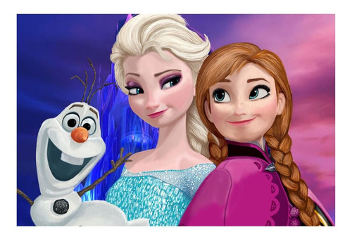 kit totem display de festa aniversario frozen painel 150x100