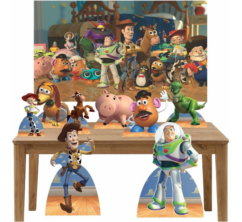 kit totem display e painel 150x100 cm para festa toy story