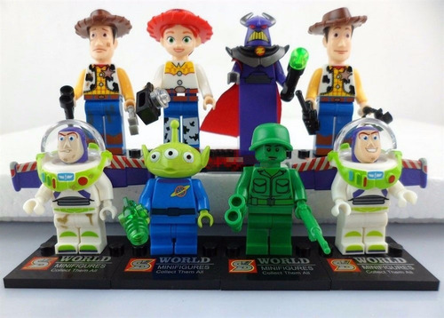 kit toy story - 08 bonecos - minifigures