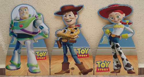 kit toy story 3 totem 80cm e 12 display 22cm completo festa