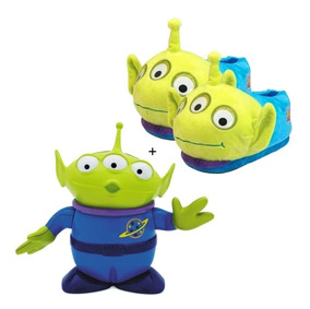 a9f13898bebfab Kit Toy Story Com Pantufa Alien 31/33 + Boneco Alien Novo