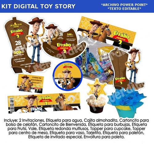 kit toy story invitación etiquetas candy cumpleaños fiesta