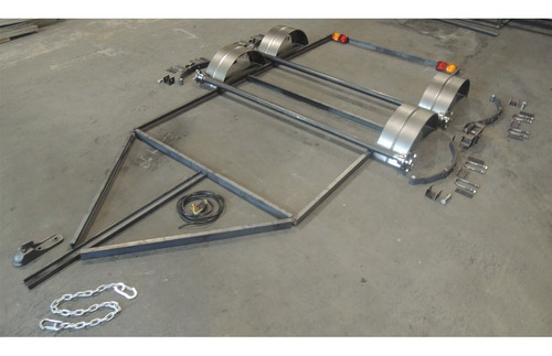 kit trailer 2 ejes chasis upn 2,5 x 1,5 cuotas sin interes f