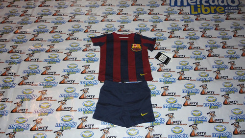 kit trajecito nike de bebe del barcelona local tipo retro