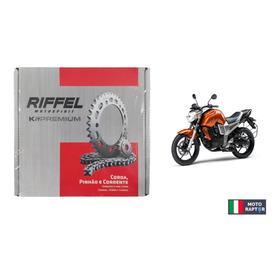 Kit Transmision (corona + Piñon+ Cadena) Riffel Yamaha Fz 16