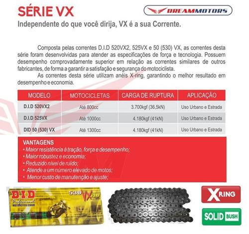 kit transmissao relacao did honda hornet 2008 2009 2010 2011