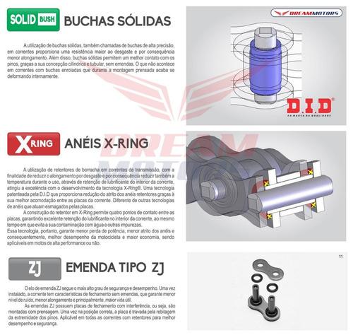 kit transmissao relação did honda hornet 2008 2009 2010 2011